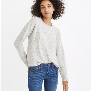 Madewell Cashmere Sweater Ash Donegal